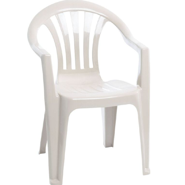 Taurus Home Products Resin Chair White, , hi-res