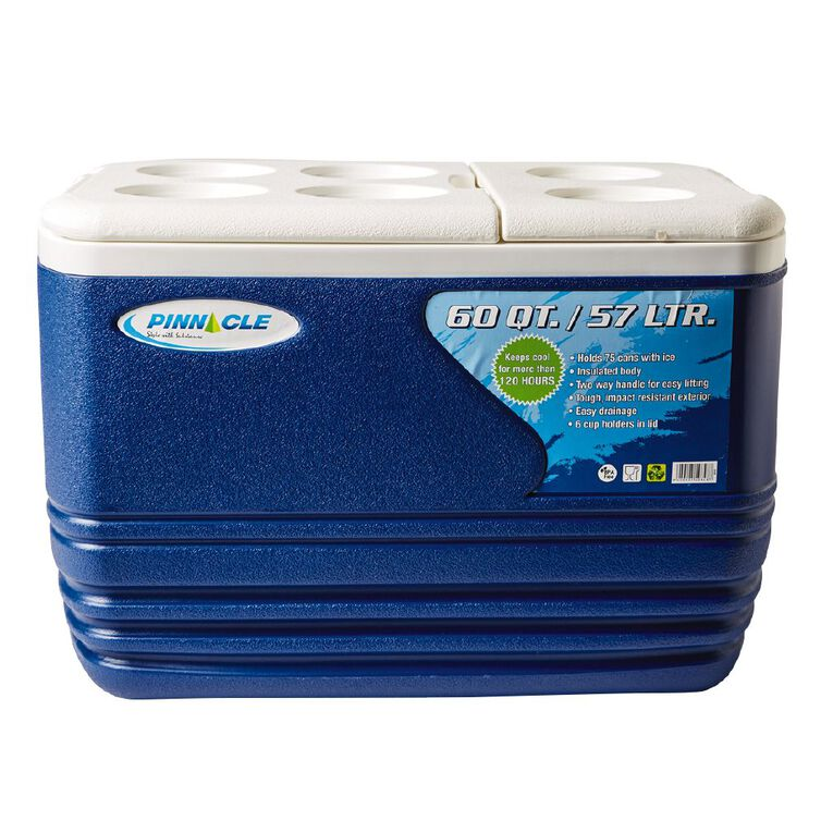 Pinnacle Chilly Bin 57L Blue/White One Size, Blue/White, hi-res