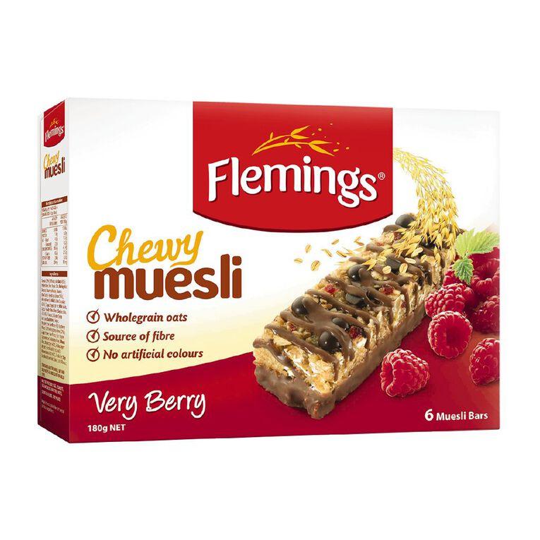 Flemings Chewy Muesli Very Berry 180g, , hi-res