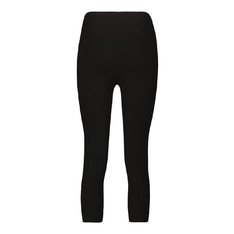 Active Intent Women's Cooldry Crop Leggings, Black, hi-res