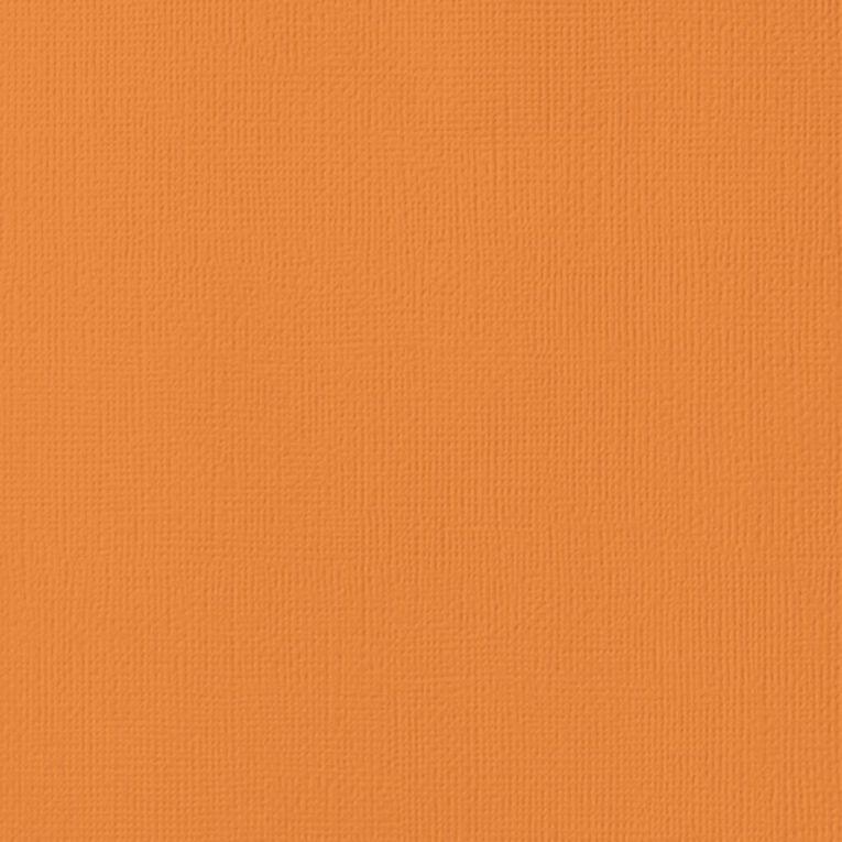 American Crafts Cardstock Textured Carrot Orange 12in x 12in, , hi-res