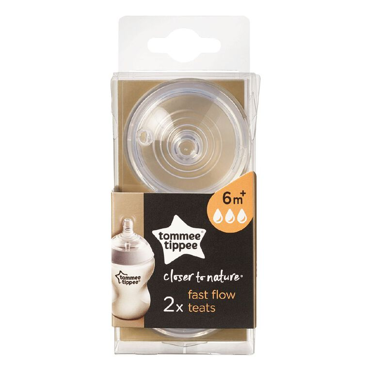 Tommee Tippee Colour My World Fast Flow Teats 2 Pack, , hi-res