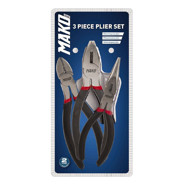 Mako 3 Piece Plier Set, , hi-res