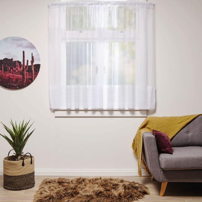Living & Co Linear Net White 150cm-230cm Wide/120cm Drop, White, hi-res