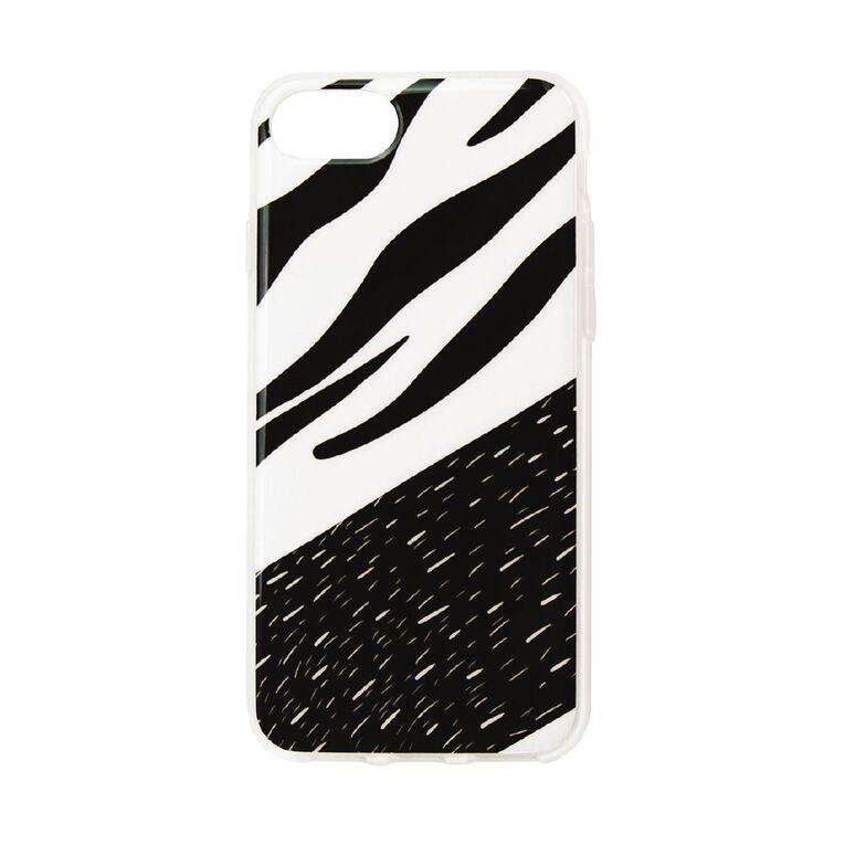 iPhone 7/8/SE Phone Case Black/White, , hi-res