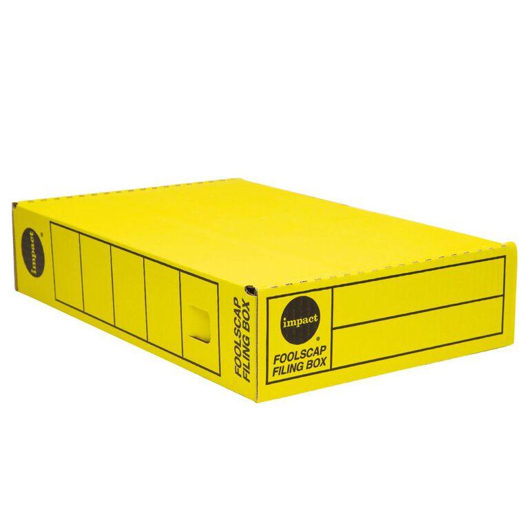 Impact Storage Box Foolscap Yellow, , hi-res
