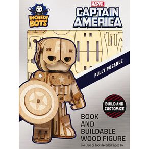Marvel Incredibuilds Incredibots Marvel Captain America 3D
