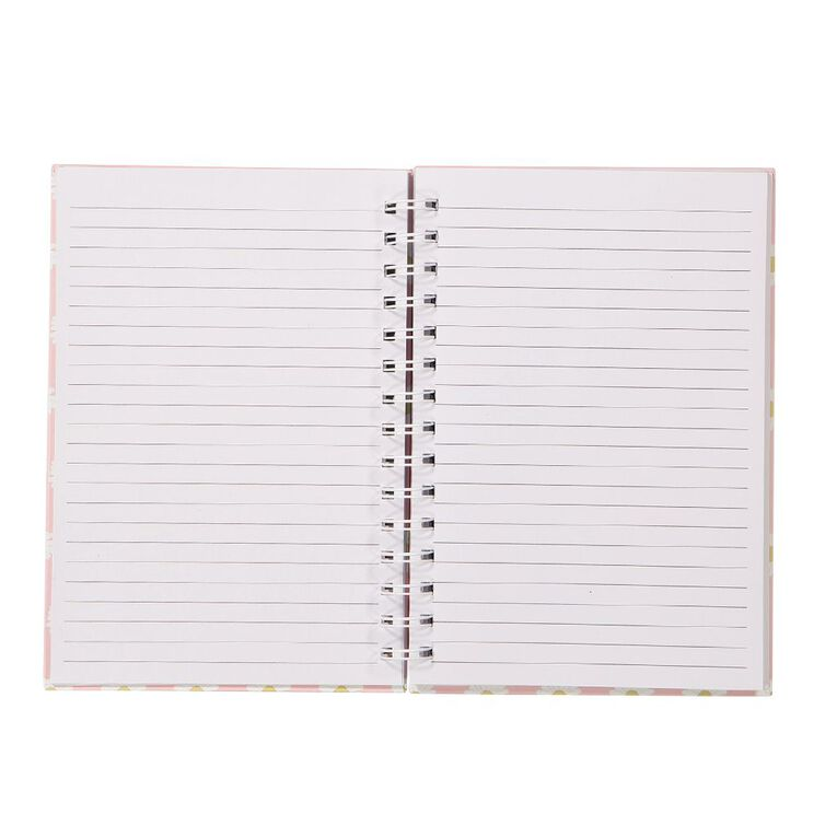 Uniti Blossom Daisy Spiral Notebook Hardcover Pink A5, , hi-res