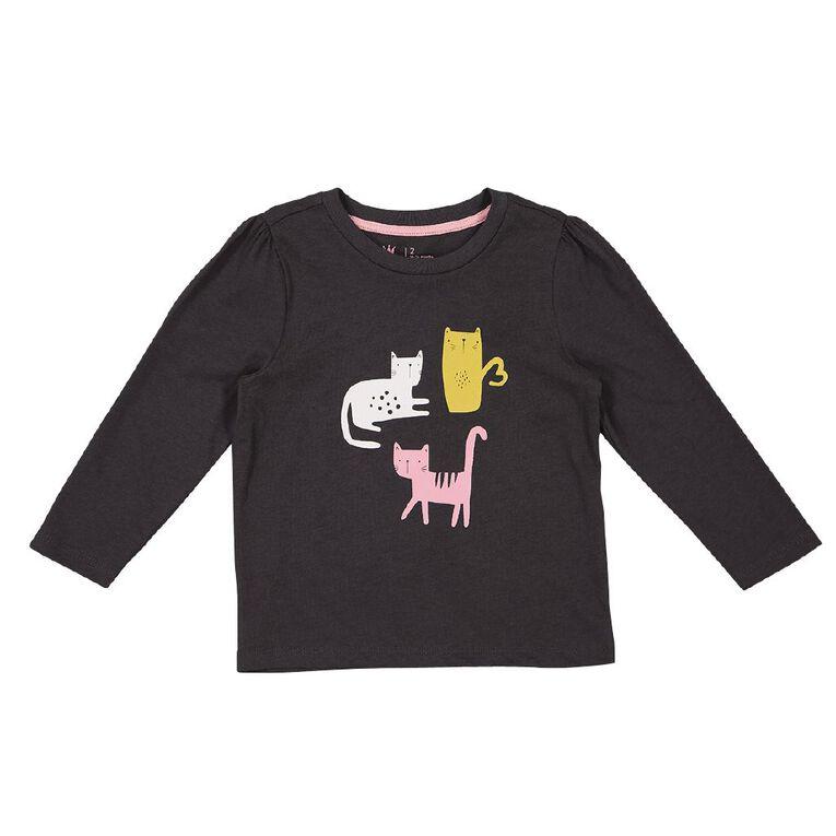 Young Original Toddler Long Sleeve 2 Pack Tees, Grey Dark, hi-res