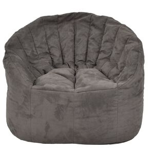 Living & Co Bean Bag Chair Cover Grey Suede Look 300L