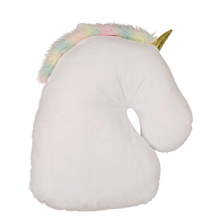 Living & Co Kids Cushion Sweet Unicorn White 40cm x 30cm, , hi-res