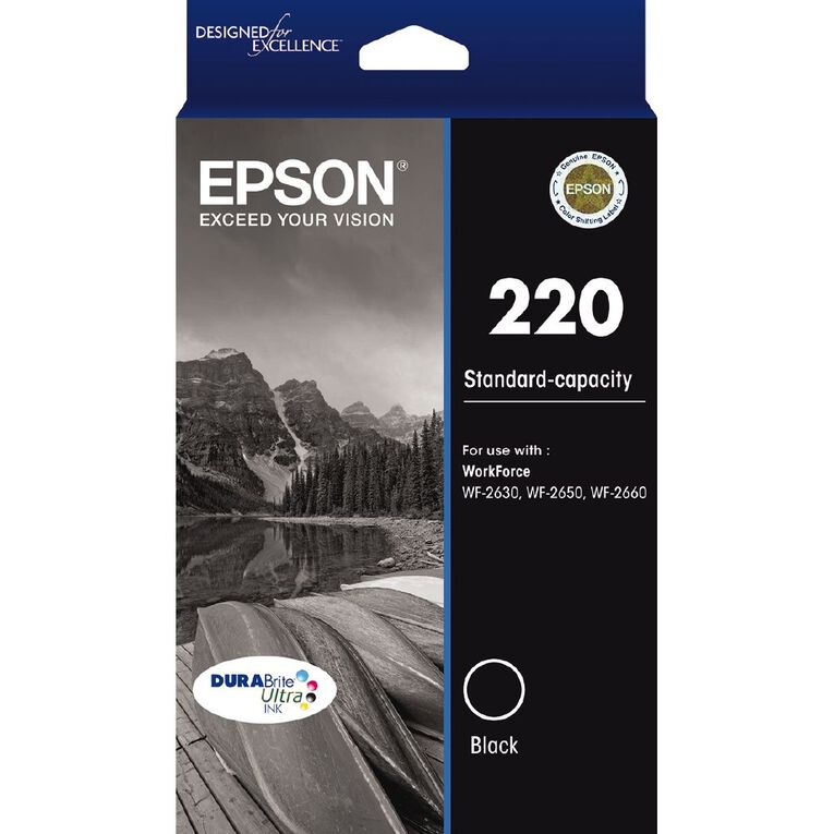 Epson Ink 220 Black (175 Pages), , hi-res