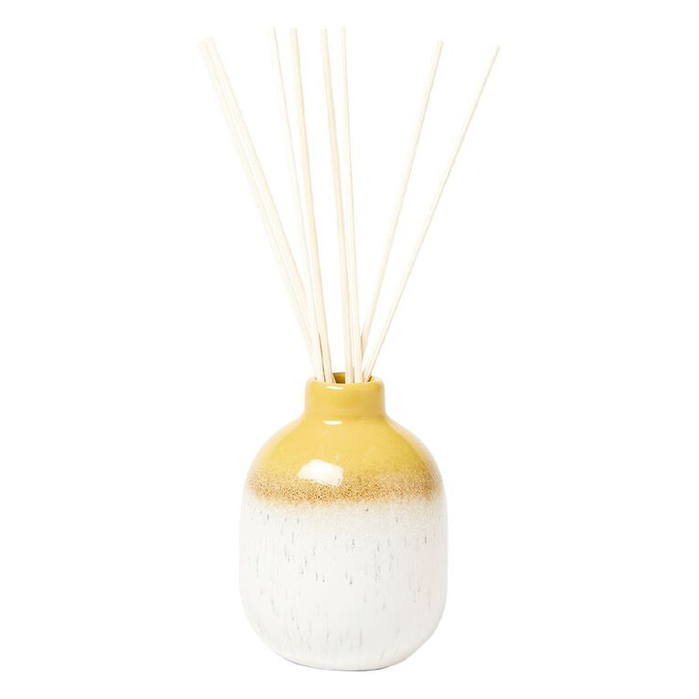Living & Co Reactive Glazed Elements Earth Diffuser Yellow 150ml, Yellow, hi-res