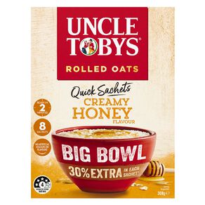 Uncle Tobys Quick Oats Creamy Honey Big Bowl 368g
