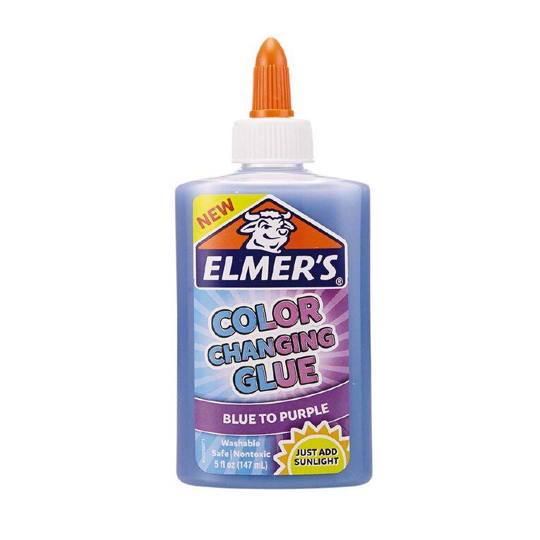 Elmer's Colour Changing Glue Blue to Purple 147ml, , hi-res