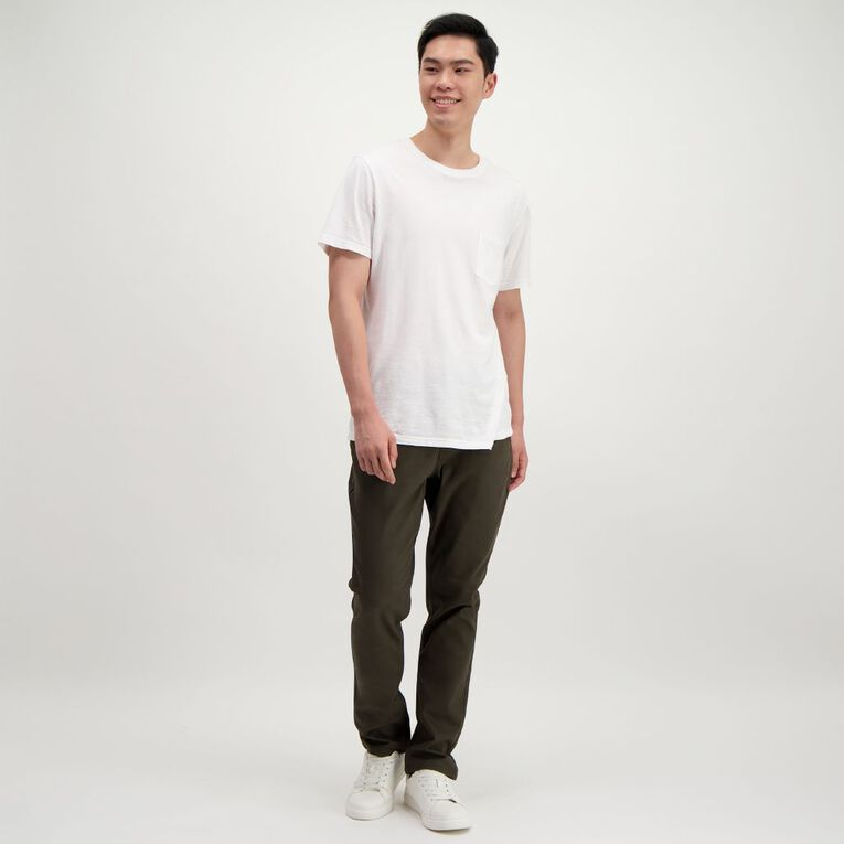 H&H Men's Straight Coloured Pants, Khaki, hi-res