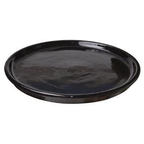 Kiwi Garden Round Saucer Black 32cm