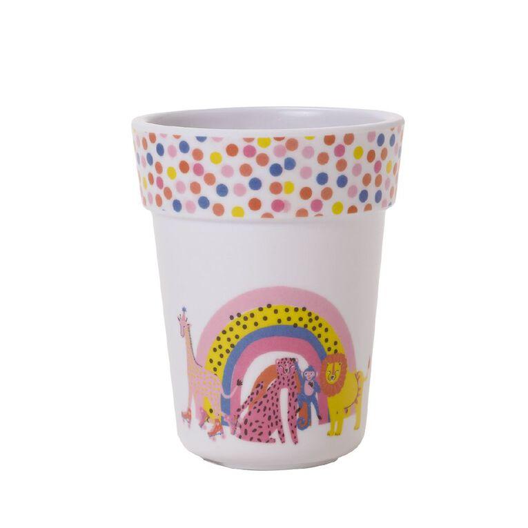 Living & Co Kids Melamine Printed Cup Soiree Multi-Coloured, , hi-res