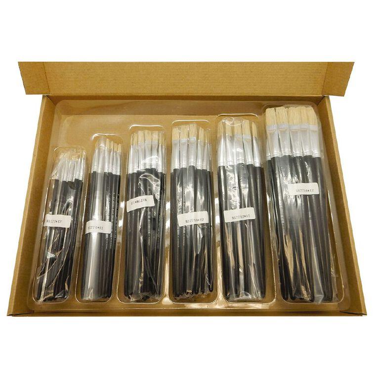 Fivestar Chinese Bristle Flat 577 Brush Classroom 144 Set, , hi-res
