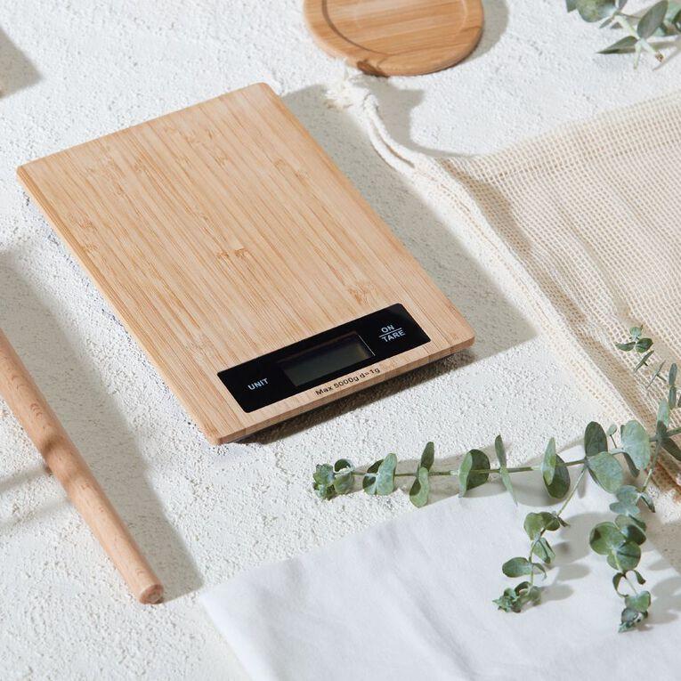 Living & Co Bamboo Digital Scale 5kg, , hi-res