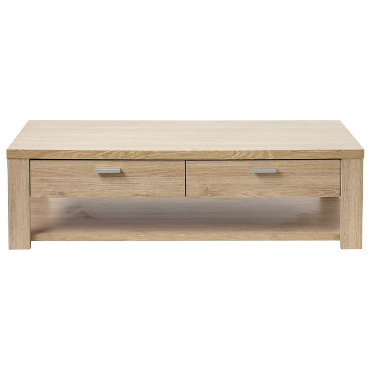 Living & Co Indiana Coffee Table with 2 Drawers, , hi-res