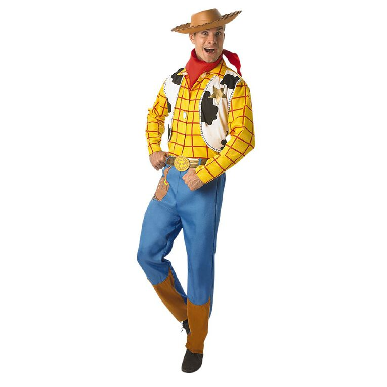 Toy Story Woody Deluxe Adult Costume - Size XL, , hi-res