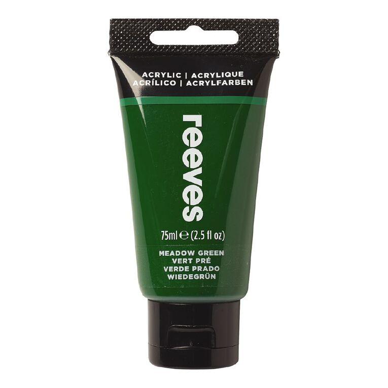 Reeves Fine Acrylic 75ml Meadow Green 440 75ml, , hi-res