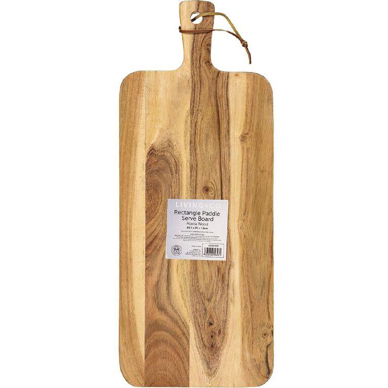 Living & Co Paddle Serve Board Rectangle 49.5cm x 20cm, , hi-res
