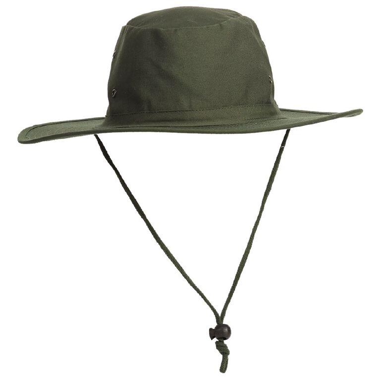 Schooltex Aussie Style Hat, Bottle Green, hi-res