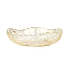 Living & Co Wire Basket Gold 32cm x 32cm x 9cm