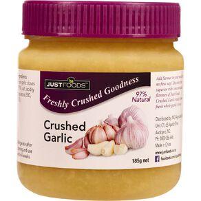 Just Foods Just Garlic 97% Pure & Natural Crushed Garlic 185g
