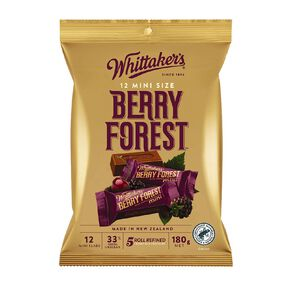 Whittaker's Mini Slab Berry Forest 12 Pack 180g