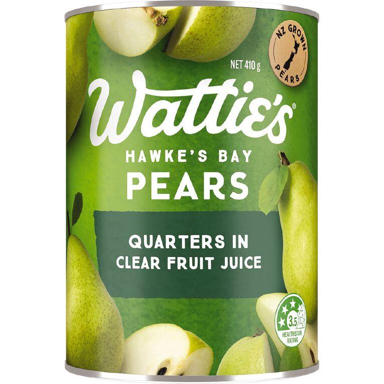 Wattie's Pear Quarters in Juice 410g, , hi-res