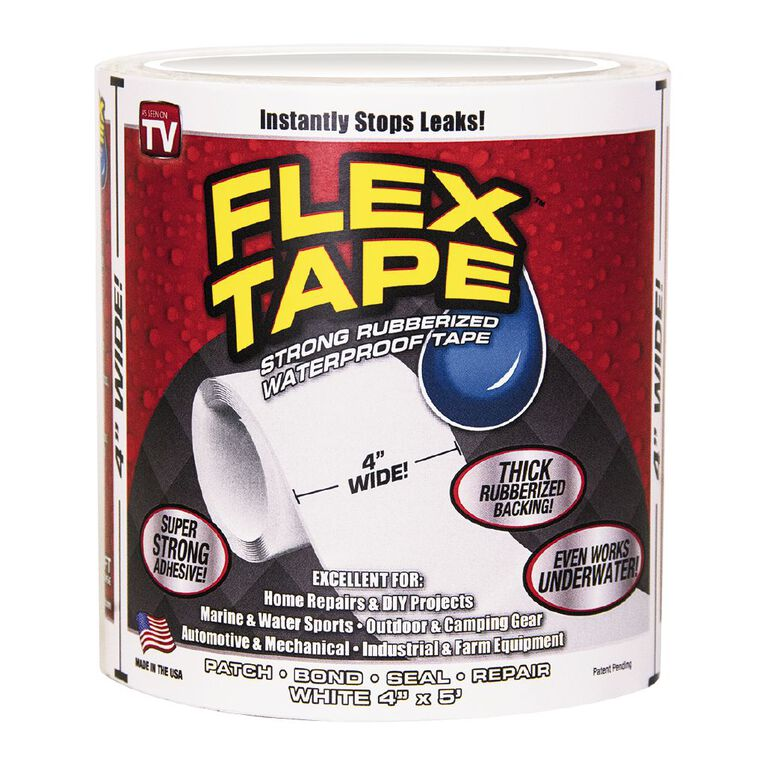 As Seen On TV Flex Tape 4 inch White, , hi-res