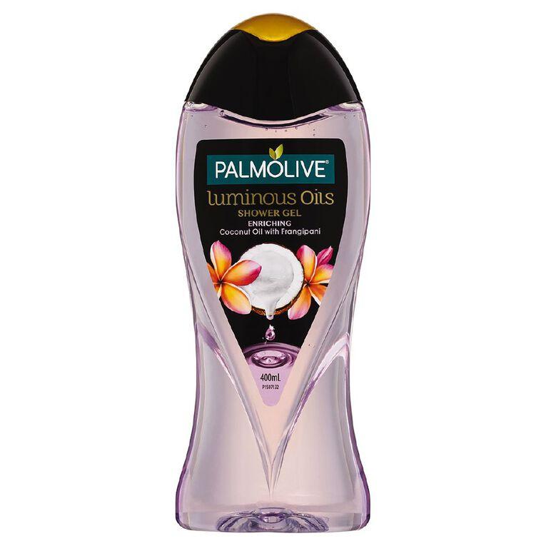 Palmolive Luminous Oil Shower Gel Coconut & Frangipani 400ml, , hi-res