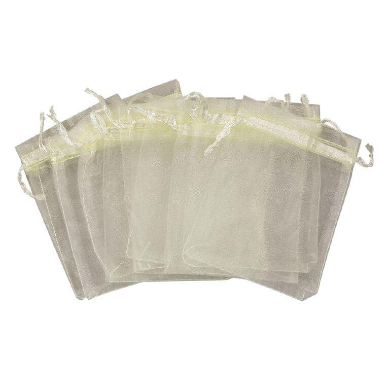 Uniti Organza Bags Ivory, , hi-res