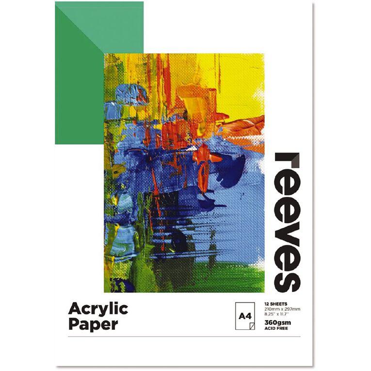 Reeves Acrylic Pad A4, , hi-res