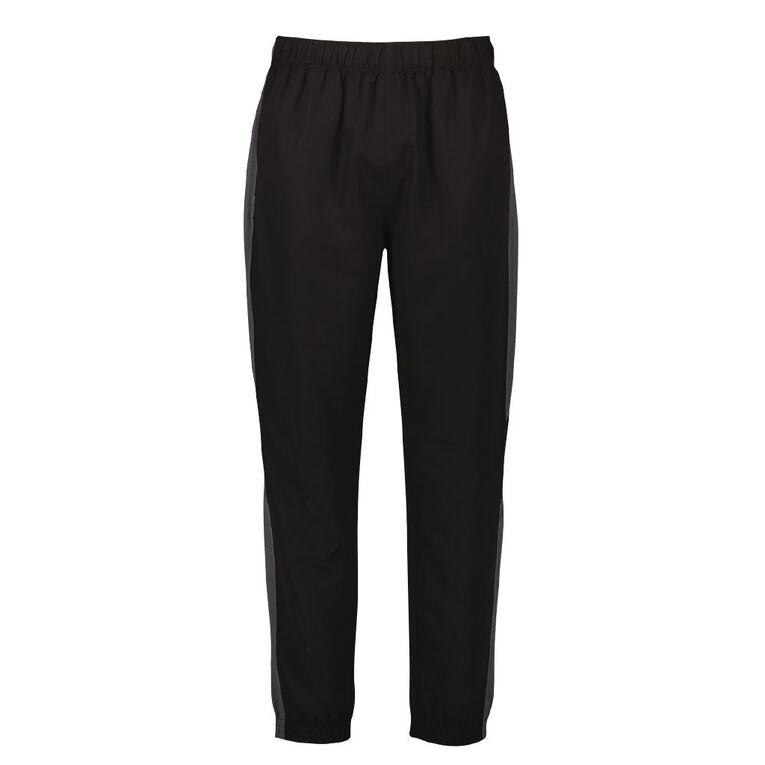 Active Intent Men's Side Panel Elastic Hem Pants, Black, hi-res