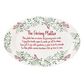 Wonderland Womens Refuge Charity Giving Platter 41cm x 28cm