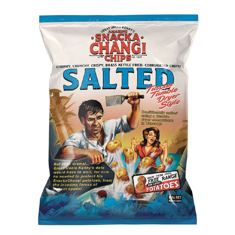 SnackaChangi Kettle Chips Salted Tuscan Tumble Dryer Style 150g, , hi-res
