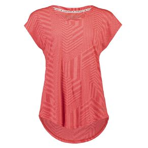 Active Intent Women's Burn Out Extended Shoulder Tee