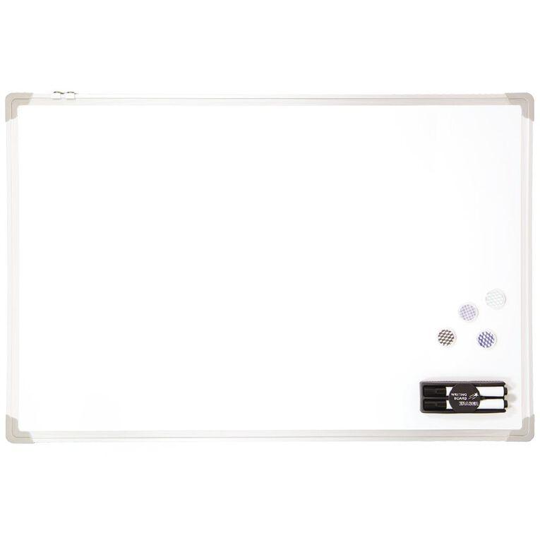 WS Aluminium Magnetic Whiteboard 600 x 900mm, , hi-res