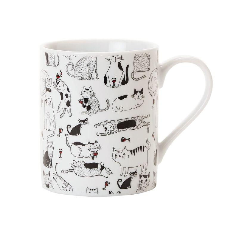 Living & Co Printed Mug Cat Lady, , hi-res