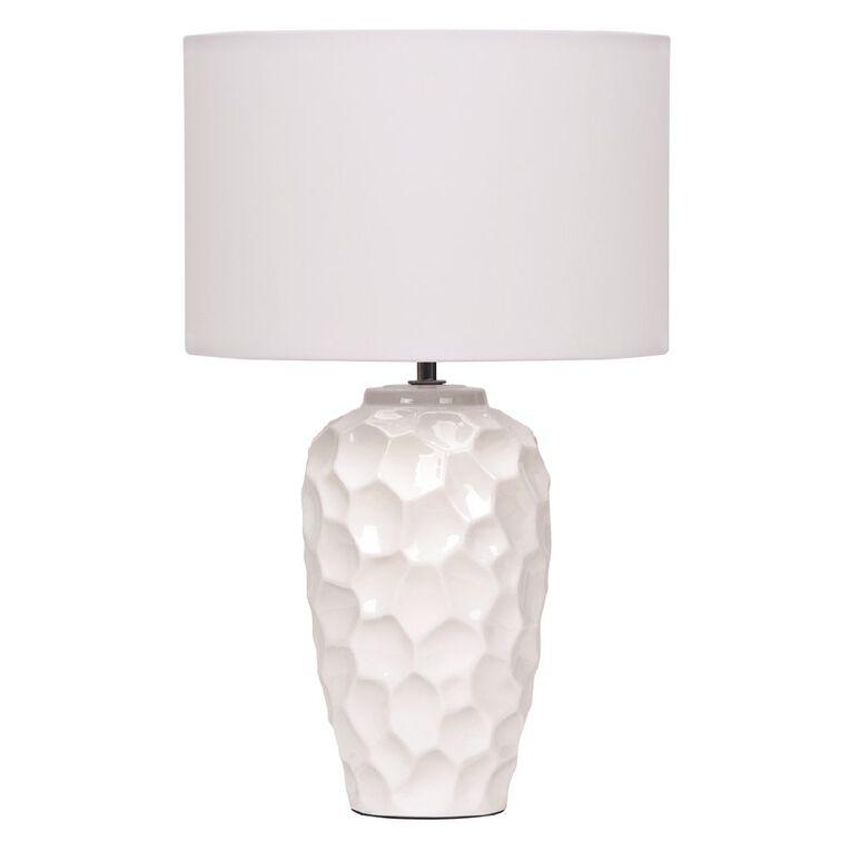 Living & Co Ceramic Textured Lamp, , hi-res