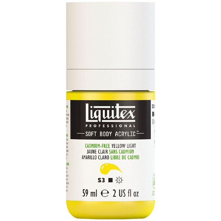 Liquitex Soft Body Acrylic 59ml Cadmium Free Light Yellow S3, , hi-res