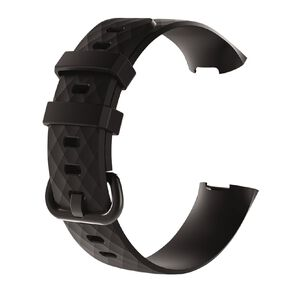 Swifty Black Replacement Strap For Fitbit Charge 3 & 4 Size Large
