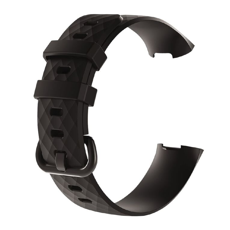 Swifty Black Replacement Strap For Fitbit Charge 3 & 4 Size Large, , hi-res