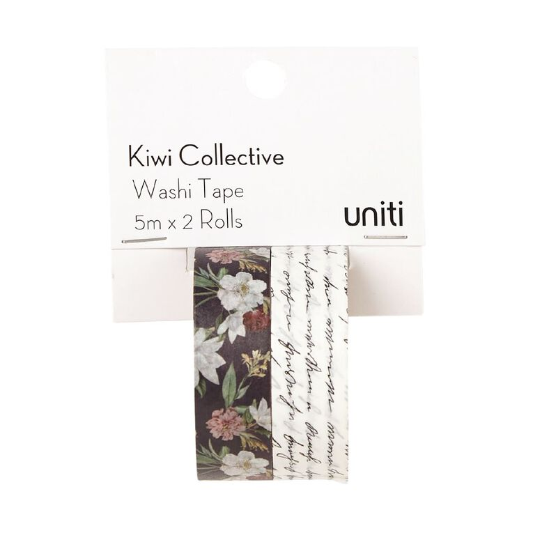 Uniti Kiwi Collective Washi Tape Pack 5m x 2 Rolls, , hi-res image number null