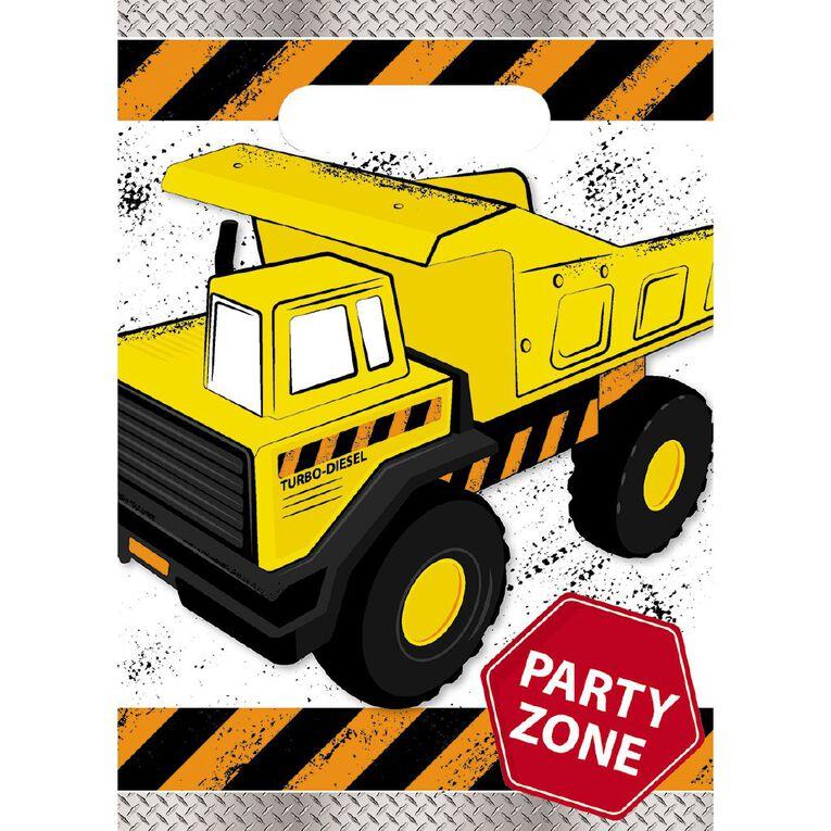 Artwrap Construction Party Bags 8 Pack, , hi-res