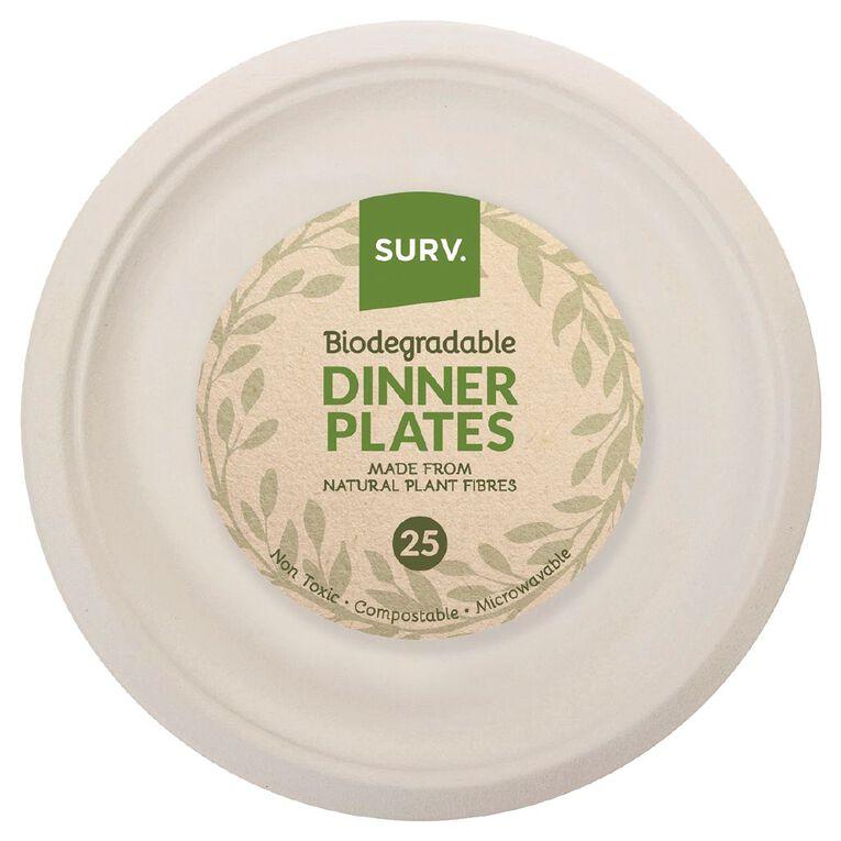 SURV. Biodegradable Dinner Plates 26cm 25 Pack, , hi-res